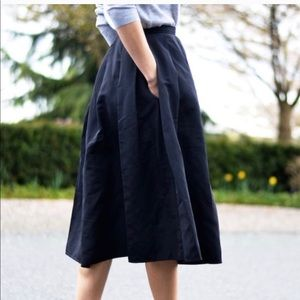 ZARA Midi A-line Skirt with Pockets